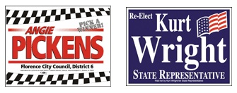 Political Yard Sign Samples