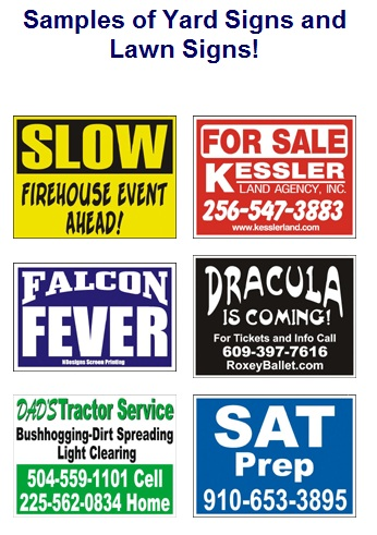 Corrugated Business Yard Signs